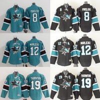 Wholesale Cheap San Jose Sharks Youth Hockey Jersey Joe Pavelski Patrick Marleau Joe Thornton Best quality Kids Ice Hockey Jerseys