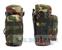 Wholesale 14 Military Molle Zipper Camo Tactical Water Bottle Pouch Utility Medic Pouch Kettle Package Tactical Outdoor Canteen Carry Bag order lt no