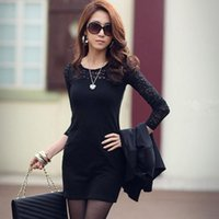 best slim cocktails - w1029 Best seller Womens Sexy Slim Long Sleeve Crew Neck Party Cocktail Lace Dress