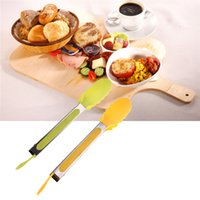 Wholesale New Home decor Kitchen Barbecue Catering Clip Food locking tong Handle Buffet quot Silicone hot sale