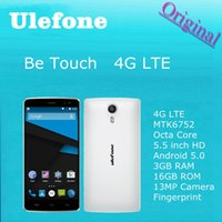 Cheap Original Ulefone Be Touch Cell Phone 4G LTE MTK6752 Octa Core 5.5 inch HD Android 5.0 3GB RAM 16GB ROM 13MP Camera Fingerprint