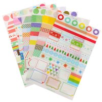 Wholesale 6pcs set Calendar Paper Sticker Simple Life Scrapbook Calendar Diary Planner Decor