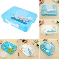 Wholesale Hot Sale Portable Microwave Bento Children Lunch Box Food Container Storage Box with Spoon