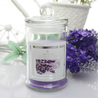 Wholesale 6 colors Glass jar candle Scented candles