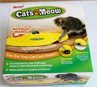 Wholesale Mouse Cat Toys Cat s Meow Toys Undercover Fabric Moving Mouse Toy Electronic Cat Play Toys Cat training tools by DHL