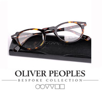 best eyeglasses brands - best quality Vintage Optical Glasses Frame Brand Oliver Peoples Peck ov Gregory Eyeglasses for Women and Men Eyewear Frames