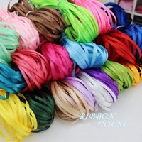 Wholesale 3mm Width Statin Ribbon Mixes Colors M DIY Handmade Ribbons Decoration Wedding And Party Candy Boxes Bowknot Headwear Decoration