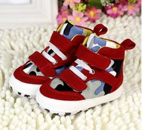 camouflage fabric - PU camouflage fabric soft bottom boy toddler shoes Velcro CM CM CM baby casual shoes in stock pair B24