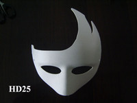 blank half mask - 8 Designs White Paper Match Masks Blank Mask DIY Painting Masks Cartoon Masks Festive Party Supplies Halloween Party Accessories