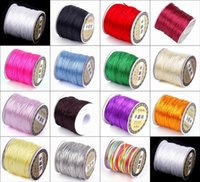 Cord & Wire nylon rope - New Roll M Nylon Wire Cord Satin Chinese Knotting String For Shambhala Macrame Bracelet Necklace Beading Ropes Jewelry Findings NF3