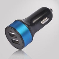 DC12V band car charger - 2016 hotselling band new Round shape DUAL USB car charger A black surface color DUAL USB car charger convenient