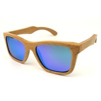 wood mirror - Beech Wood Sunglasses Polarized Green Mirror Lens Square Styles for Men and Women Fashion Wood Eyeglasses in Wholesales