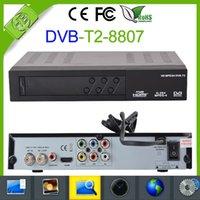 Cheap 1pcs DVB S2 8807 HD DVB T2 Receiver Digital Terrestrial satellite TV Receiver Compatible MPEG-2 MPEG-4 H.264 DVB-T2 HDMI 1080P media player