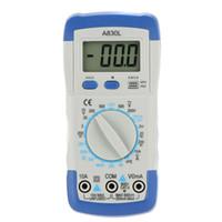 Wholesale DMM Digital Multimeter A830L Ammeter Multitester Voltmeter Megohmmeter Ohmmeter hFE Current Tester w LCD Backlight