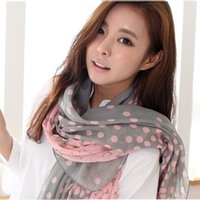 cotton scarves shawls - New Hot Women Cape Pink Point Autumn Winter Voile Bufandas Brand Scarf Paris Yarn Shawl Scarves