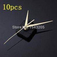 Cheap Wholesale 2014 New 10pcs High Quality Gold Hands DIY Quartz Black Wall Clock Movement Mechanism Repair Parts Silent