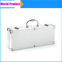 Wholesale New Stainless Steel BBQ Grilling Tool Set with Aluminum Storage Case perfect for picnics