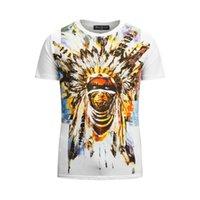 Wholesale 2015 Cool Mens Balmain Print Cotton T Shirt Tops Short Sleeve shirts New M L XL XXL