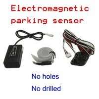 Wholesale car buzzer auto electromagnetic parking sensor no holes need easy install parking radar Bumper guard back up parking sensorer