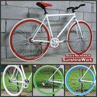 aluminum single speed frame - White Frame cm with Style Rim Tyre X23C Single Speed Bike FIXEE Special Price
