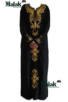 islamic clothing - Muslim dress Dubai Islamic embroidery classic female Robe arabic clothing for muslim women clothing Kaftan