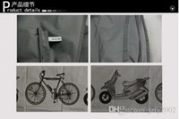 Wholesale Grey polyester waterproof Motorcycle bike bicycle cover Moped