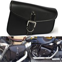 Wholesale MOTORCYCLE PU LEATHER SADDLEBAGS SADDLE TOOL POUCH SIDE BAG STORAGE FOR HARLEY order lt no track