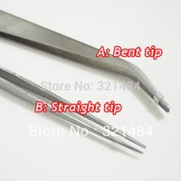 Wholesale 2piece cm Jewelry Beads Pick Up Tools DIY Tweezers Straight and Bent Tip End can chose