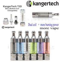 big offers - Kanger high clone T3D atomizer dual coil kanger T3D clearomizer big vapor vaporizer Quality warranty stock offering free by DHL