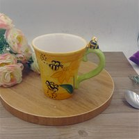 bee names - New Arrival Name Brand Creative D Bee Yellow Cute Coffee Water Milk Breakfast Mug Cup Home