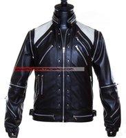 beat it jacket - Fall XS XXXL Hot sale Michael Jackson Costumes MJ Beat It men s leather jacket coat new stage singer costumes clothing