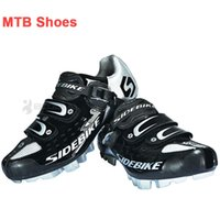 cycling shoes - Black Racing Mountain Bike Shoes Men Sports Cycling Shoes Breathable Velcro Scarpe MTB Zapatillas Bicicleta Bicycle Shoes