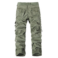 Men big camo clothing - Full length pant Men s Cargo Pants Millitary Clothing Tactical Pants Men Outdoor Camouflage Army Style Camo Workwear Trousers big size