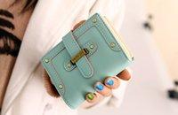 al por mayor de cuero de la PU buena zipperHasp bolso de las mujeres de moda carteras / dama cinco colores estilo corto venta caliente