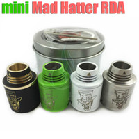 hatter - Mini Mad Hatter RDA Mods Atomizer Tiny size tank Tiffany Rebuildable Atomizers Copper pin Thread mod mm vape RDA airflow control DHL