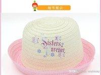 Cheap 2014 hot sell frozen cap frozen hat frozen Straw hat frozen Sun hat Fashion as a Christmas present free shipping K091F2