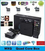 Wholesale 10pcs MXQ Kodi TV BOX Amlogic S805 Quad Core Kodi Media Player Android GB GB Google Smart Mini PC