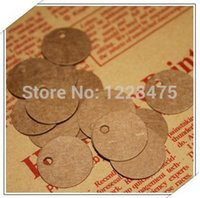 Wholesale Dia cm Cute Mini Size Round Kraft paper Tag Jewelry Paper Hang Tags gift paper tag