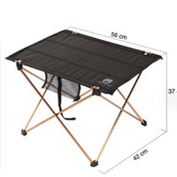 Wholesale Oxford Fabric Portable Foldable Folding Table Desk Furniture Outdoor Picnic Aluminium Alloy Brand New