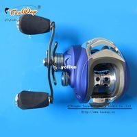 Cheap Hot Sale! MD200LA 10+1BB Ball Bearings Left Hand Baitcasting Sea Carp Fishing Reel 6.3:1 Lures Tackle Blue color fly fishing