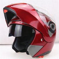 Wholesale New Arrival Best Sales Safe Flip Up Motorcycle Helmet With Inner Sun Visor Everybody Affordable Dual Lens Motorbike Helmet