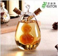 sauce bottles - Nordic style glass leak oiler glass condiment bottle sauce pot vinegar oiler glass jar top sale gift