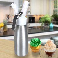 Wholesale LS4G ML FreshEuropean Fancy Style Whip Dessert Cream Butter Dispenser Whipper Foam Maker Silver