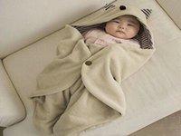 Wholesale Multifunction Infant Baby Swaddle Fleece Warm Blanket Hooded Wrap Sleeping Bag