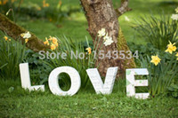 free shipping standing white love decorative wooden letter custom size