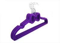 velvet hanger - SH004 multifunction Velvet hangers with bow plastic Anti skip clothes hanger household racks