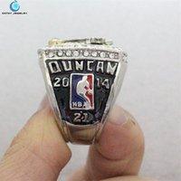Compra Championship ring-2014 anillos de campeonato de los Spurs Negro Rojo enamal plata plisados hombres anillo de cristal