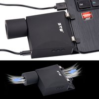 Cheap Turbo Cooling Pad USB Notebook Cooler Controller Ventilation Radiator Portable Laptop Notebook Exhaust 5 Levels fanCFX05HQ 16Z