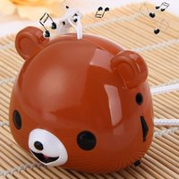 animal shaped speakers - Cute Animal Bear Shape Sound Speaker Audio Player Built in FM Radio Speakers Support TF Card USB Input