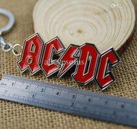 ac dc ring - Band AC DC Logo Toy Keychain Metal Key Chain Pendant Keyring Key Ring For Man s Boys T164